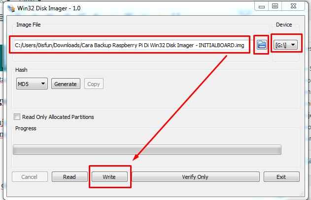 Cara Restore Raspberry Pi Menggunakan Win32 Disk Imager