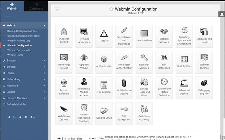 Menginstal Webmin Di Raspberry Pi - webmin configuration