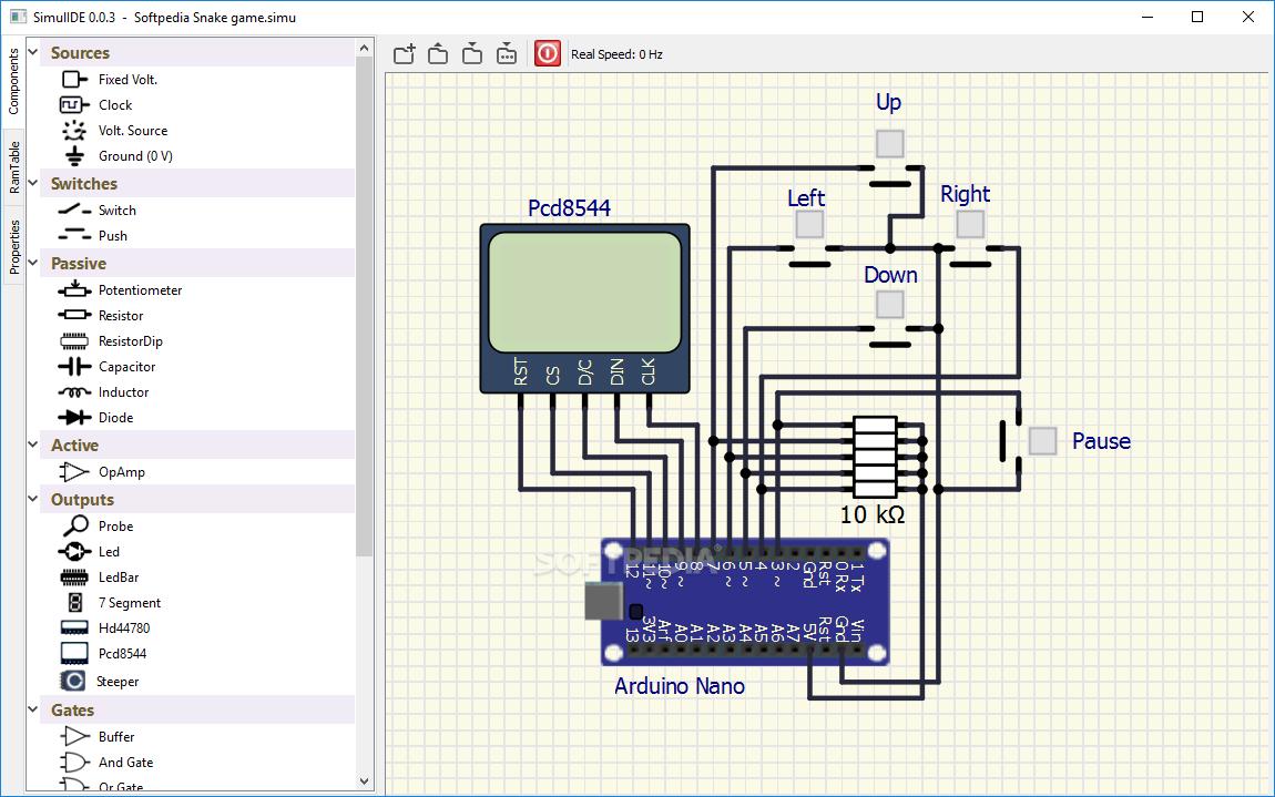 SimulIde software simulasi belajar elektronika