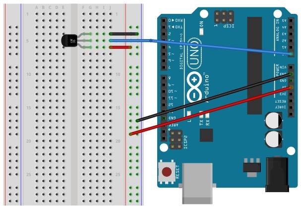 rangkaian sensor suhu lm35