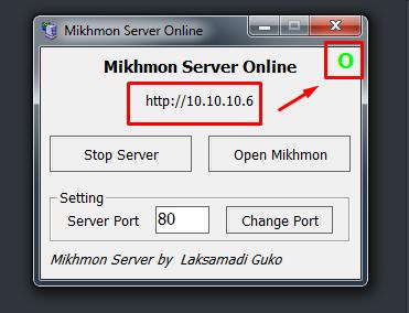 menjalankan aplikasi mikhmon server
